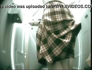 Women Peeing In Public Toilet.