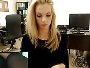 Secretary Secretly Masturbates On Webcam At Work P