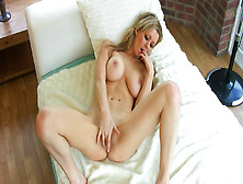 Pigtailed Blonde Lucy Alexandra Is Taking Off Her Sexy Panties