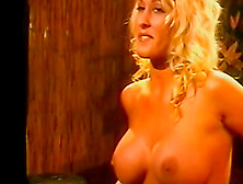 Curly Blonde With Big Tits Is Riding On The Dick