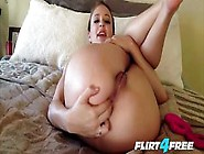 Jet Janssen And Her Pink Vibrator Take Off Inside Her Pussy