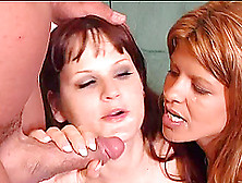 Horny Milfs Get A Big Cumshot In This Nasty Threesome