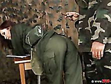 Asian Army Girl Aisha Sun Bends Over And Gets Her Tight Ass Span