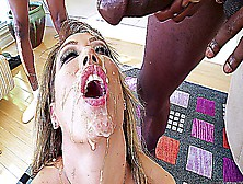 Titty Milf And A Lot Of Big Black Cocks Fucking