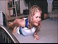 Blonde Girl Gets An Ass Spanking For Bad Grades.