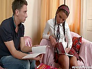 Sexy Schoolgirl Zufia Gives Head And Gets Facialized