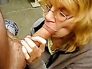 Mature Blonde Lady Eats My Fat Pink Dick Like A Sausage