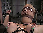 Crucified Slave Slut Got Her Boobs Examined On Endurance