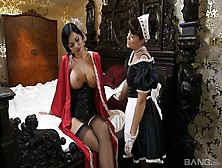 Big Tittied British Mistress Jasmine Jae Enjoys Eating Maid's Ta