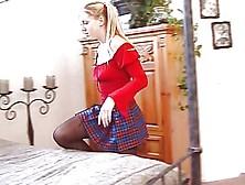 Schoolgirl Jordan Takes It In The Ass
