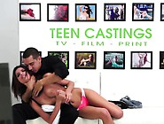 Real Teen With Roundass Cockriding At Casting