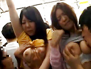 Two Girlfriends Have Titties Groped And Get Laid Publicly