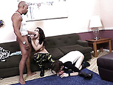 Freaky Stud Licks Toes Of His Busty Wifey While She Sucks Bbc Of