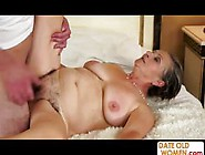 Old Fat Granny Gets Creampie