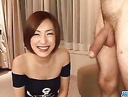 Beautiful Japanese Milf Is Gently Sucking Her Lover's Dick,