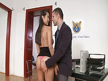 A Tall Asian Chick That Has Large Tits Is Placing Her Lips Aroun