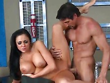 Large Tited Dark Haired Dolls Audrey Bitoni Handling The Giant S