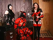 Latex Gimp Is Going To Get Sore Balls