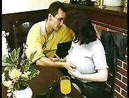 Busty Mom With Hair Pussy Fucks Boy
