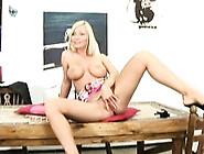 Big Tits Blonde Gets Ready For Huge Dicks