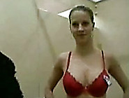 My Busty Blonde Gf Gives Me A Blowjob In Fitting Room