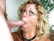 Blonde Granny Enjoys Giving Messy Deep Blowjobs