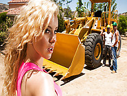 Two Construction Workers Encounter A Jogging Blonde And Bone The