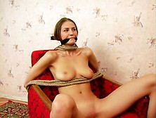 Tall Busty Brunette Gets Dicked During Bdsm Game