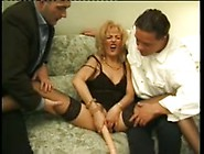 Mature Blonde Enjoys Dp 3Some