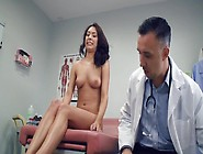 During Medical Visit Cute Brunette Has Sex With Her Doctor