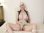 Beautiful Nerdy Blonde Mature Babe Eden Marie Monroe Teasing Her