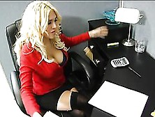 Busty Secretary Gets Fucked By One Of Her Co-Worker In The Stock