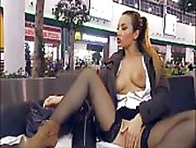 image Bblonde in shopping mall