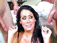 Slutty Wife Reagan Foxx Caught Taking Facial Cumshots