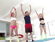 Ashley Fires & Kennedy Leigh Make Ffm Threesome With Their Coach