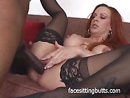 Big Black Cock Has This Red Head Calling Out For More