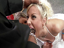 Jessie Volt And Gina Gerson Attack Big Black Cock,  Spitting And
