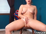 Cute Girl Riding On Her Dildo At Home