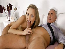 Astonishing Girl Vander Is Sucking Geezer's Tool And Later She G