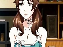 Anime Stunner In Glasses Giving Blowjob In Knees