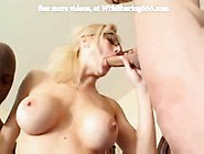 Blonde Wife Doubled In Rough Threesome With Hubby And Bbc