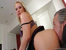Bootylicious Blonde Kimmy Olsen Turns Man