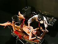 Submissive Busty Tied Up Chick Gets Her Twat Teased With Toys By
