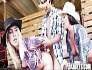 Cowgirls In Farm