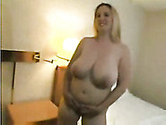 Extra Busty Bbw Blonde Girlfriend Plays With Her Jugs For Me