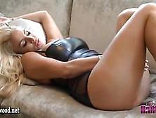 Stunning Blonde Dannii Harwood Plays Cum Game Teasing Her Big Ti