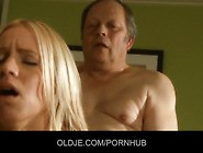 Sleazy Old Man Is Fucking With A Hot Young Blonde