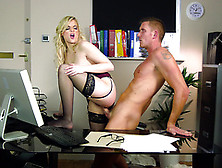 Katy Jayne Fucked By The It Guy In The Office