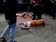 Manifestacin Pacfica - Mujeres Al Desnudo - Udec. Avi