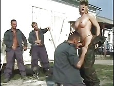 Uniformed Bitch Enjoying A Hardcore Gangbang